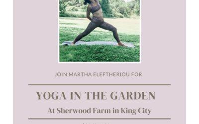 Friday Morning Yoga in the Garden